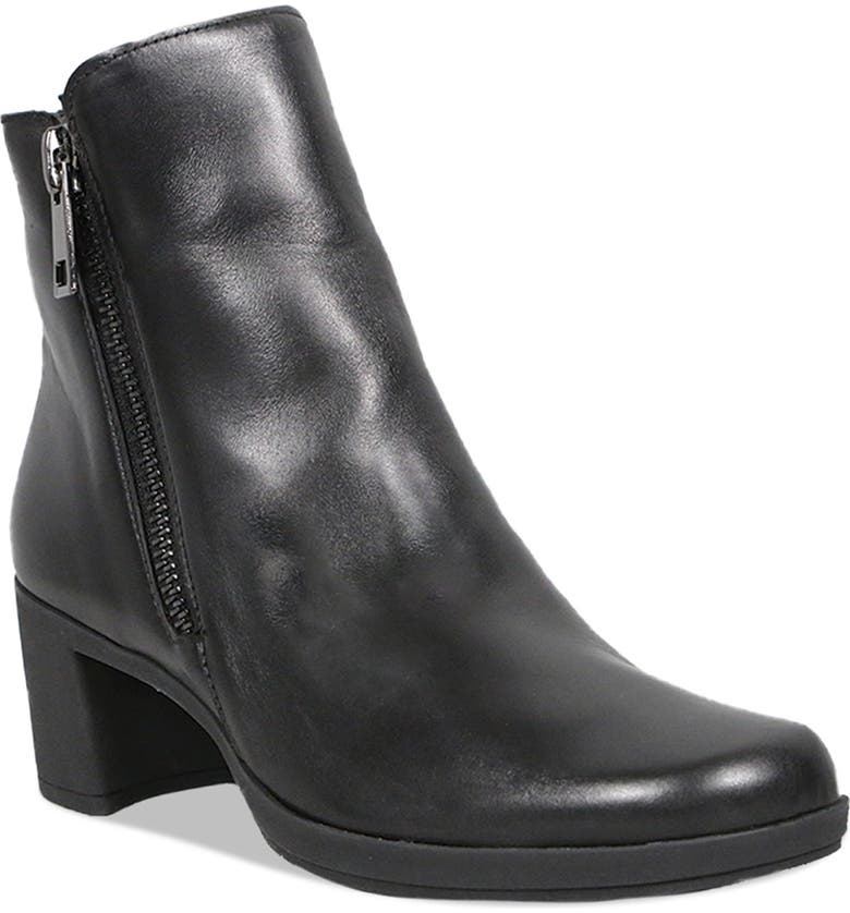 MUNRO Devon Bootie, Main, color, BLACK LEATHER
