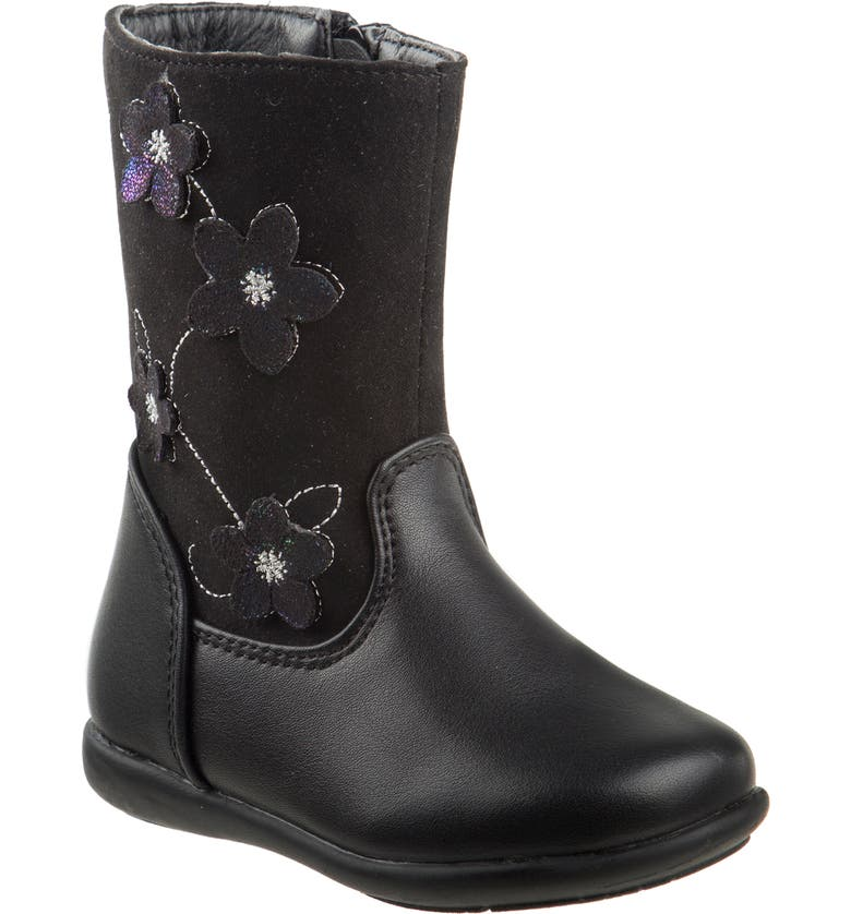 LAURA ASHLEY Flower Boot, Main, color, 001