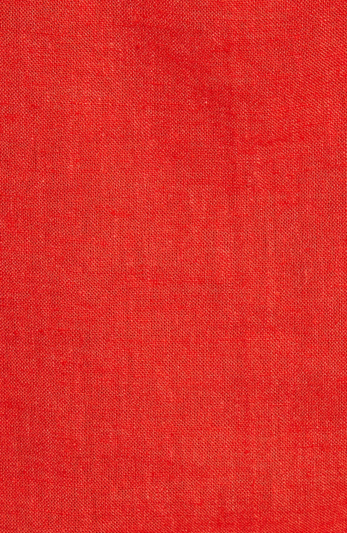,                             Linen Blend Camisole Top,                             Alternate thumbnail 5, color,                             RED FIERY CD