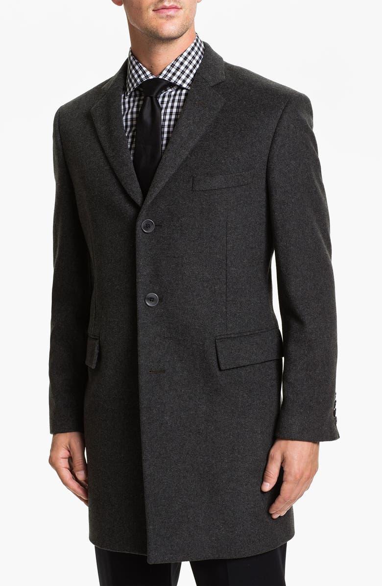 JOHN VARVATOS STAR USA Newton Topcoat, Main, color, Grey