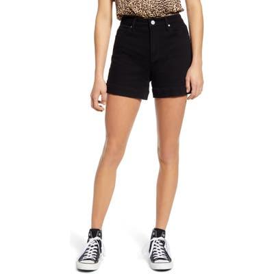 Articles Of Society Ziggey High Waist Denim Shorts, Black