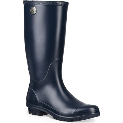 UGG Shelby Matte Waterproof Rain Boot, Blue