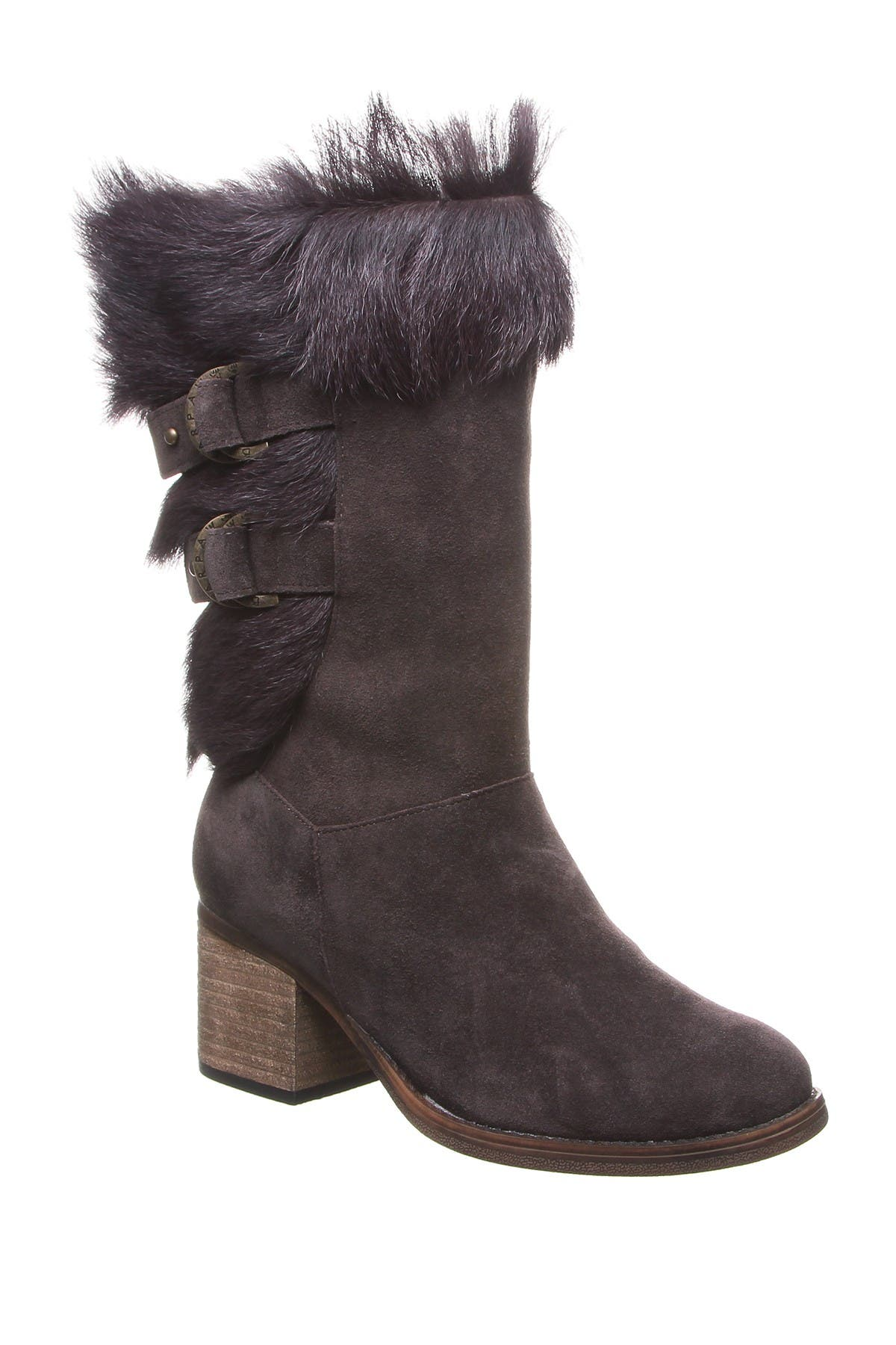 Image of BEARPAW Madeline Genuine Goat Fur & Suede Tall Boot