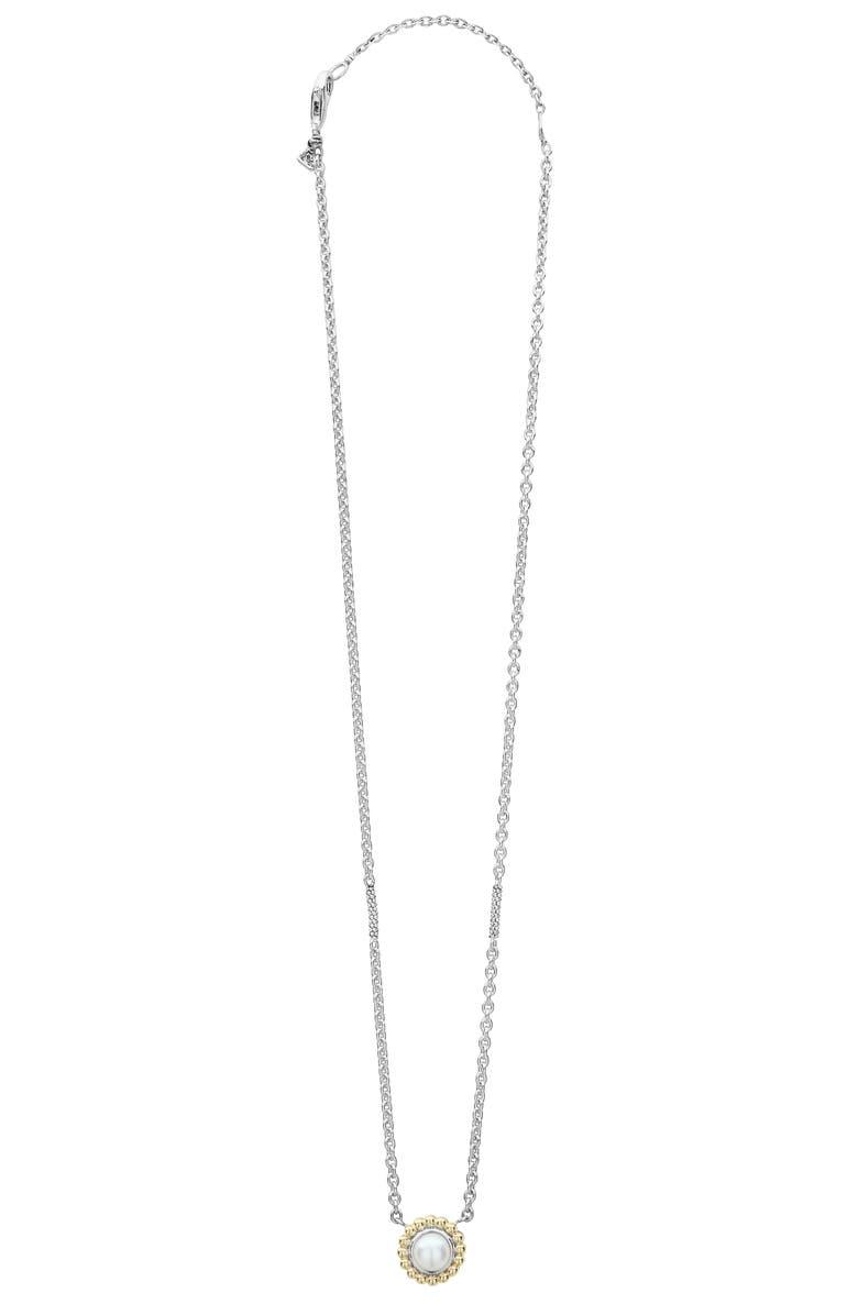 LAGOS Stone Pendant Necklace, Main, color, PEARL