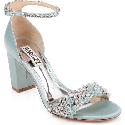 Badgley Mischka Finesse Ankle Strap Sandal, Blue