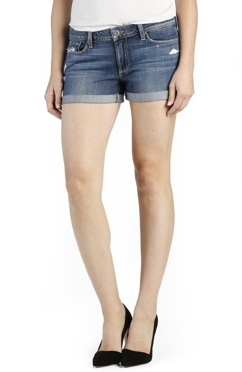 PAIGE 'Jimmy Jimmy' Denim Shorts, Main, color, 400