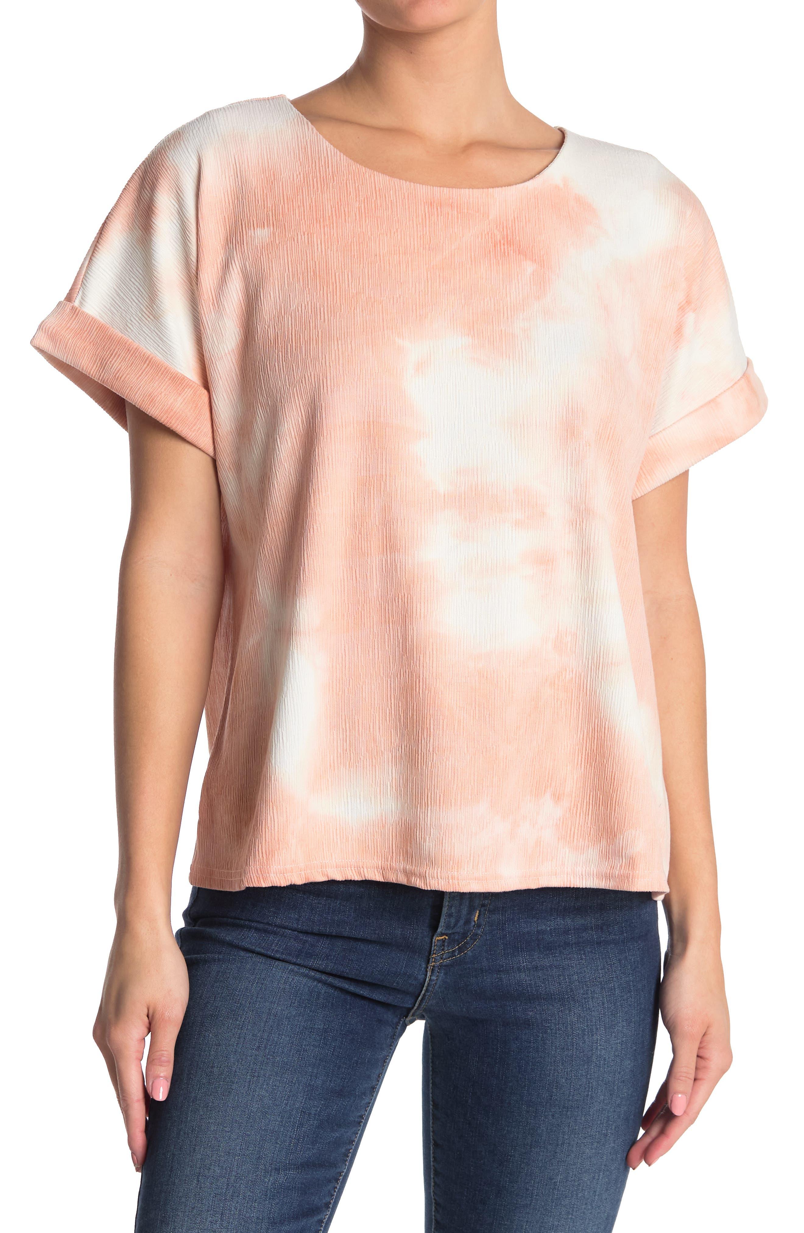 Melloday Textured Short Sleeve Knit Shirt In Dark Red7