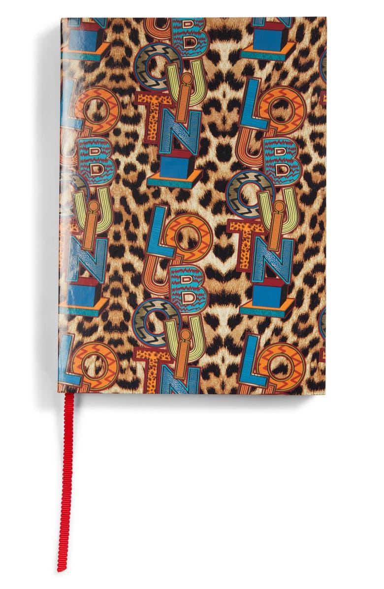CHRISTIAN LOUBOUTIN Leopard Print Notebook, Main, color, 700