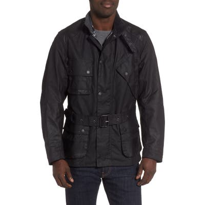Barbour Icons International Waxed Cotton Jacket, Black