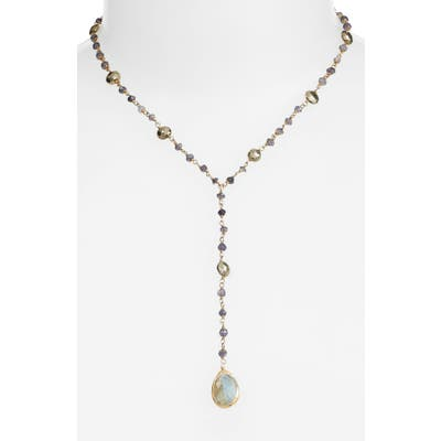 Ela Rae Yaeli Midi Satellite Semiprecious Stone Y-Necklace