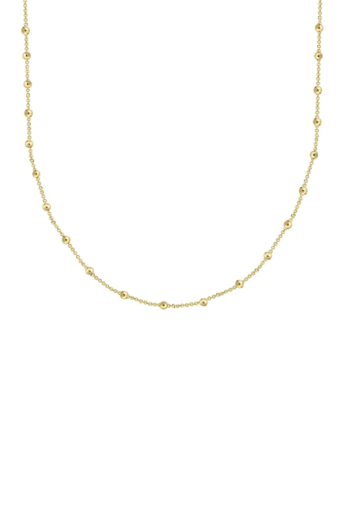 Image of Savvy Cie 14K Yellow Gold Plated Sterling Silver Italian Rosary Bead Necklace