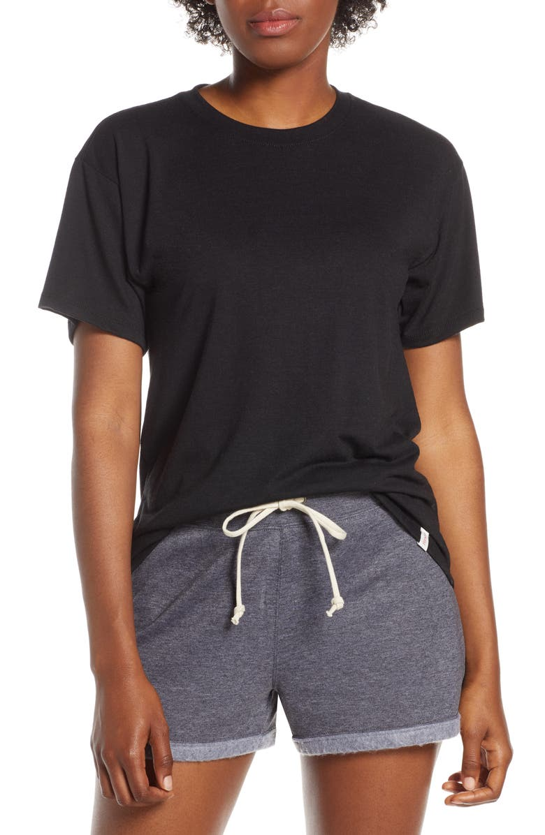 HANES LUXE Relaxed Tee, Main, color, 001