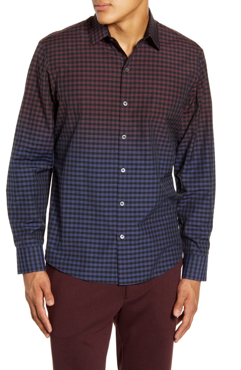 ZACHARY PRELL Randy Regular Fit Button-Up Shirt, Main, color, NAVY