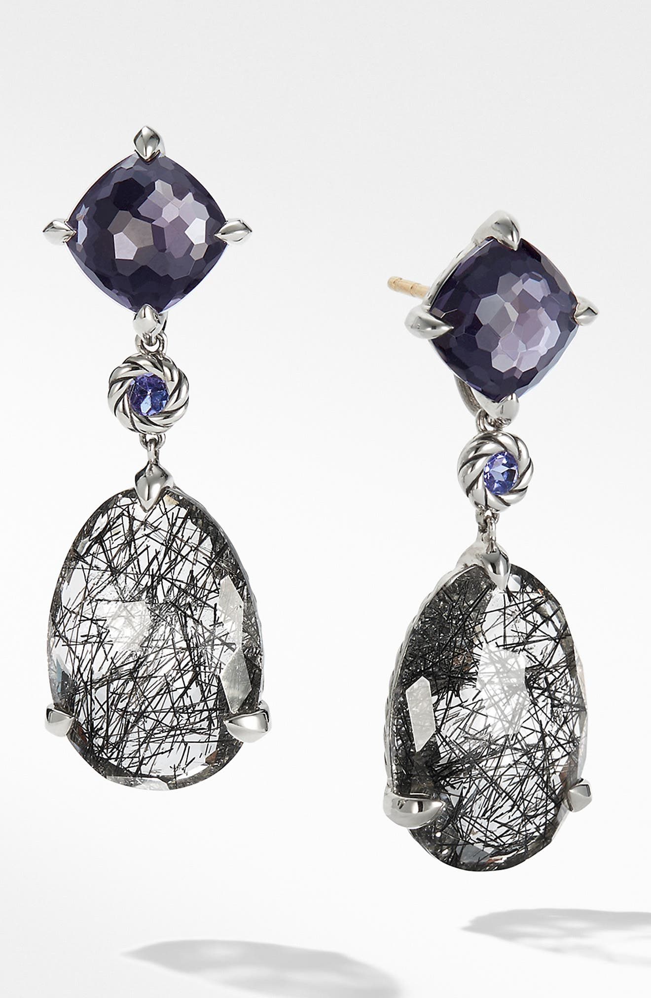 Chatelaine Drop Earrings, Main, color, TOURMILATED QUARTZ