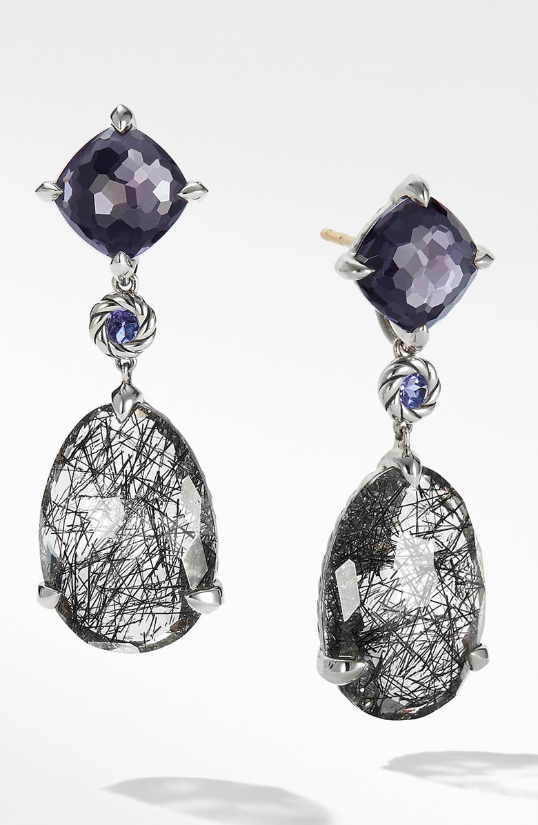DAVID YURMAN Chatelaine Drop Earrings, Main, color, TOURMILATED QUARTZ