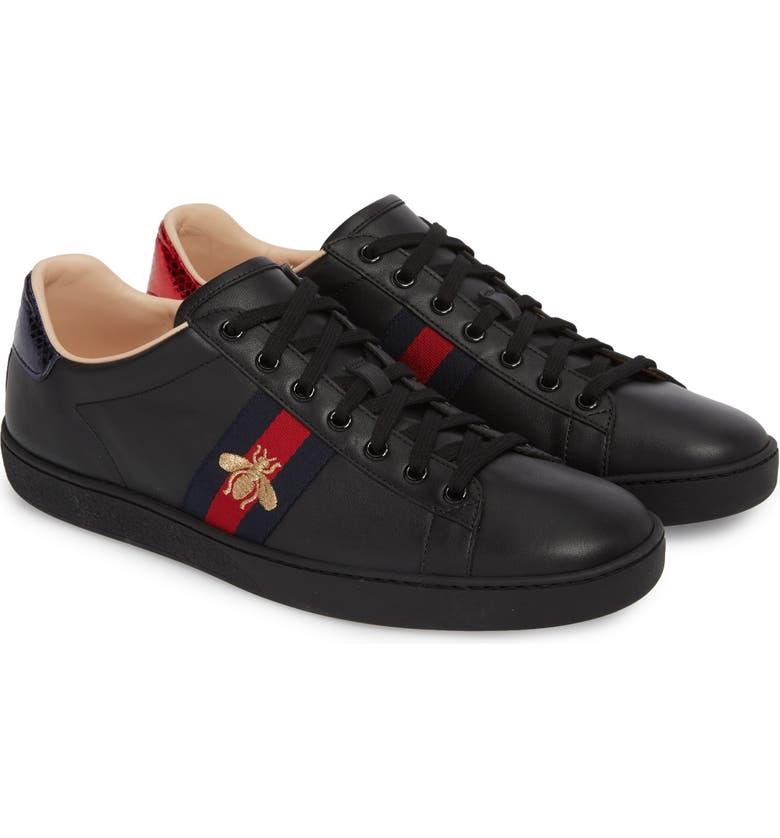 7d3121e06 New Ace Sneaker, Main, color, BLACK LEATHER