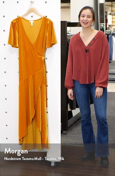 Velour Maxi Wrap Dress, sales video thumbnail
