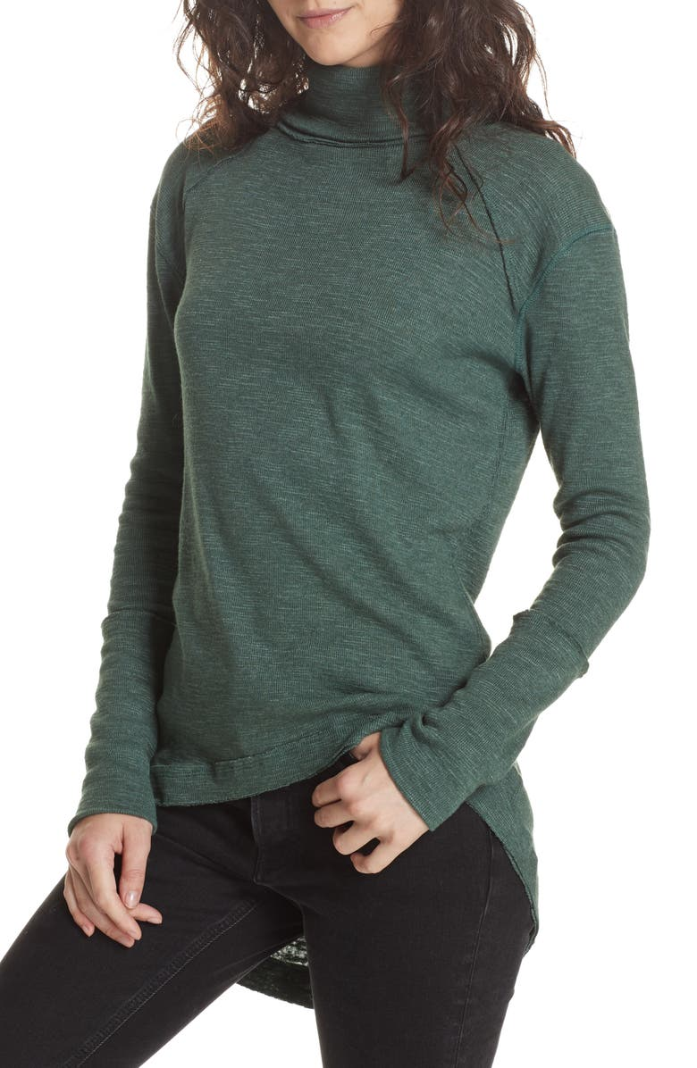 FREE PEOPLE Split Back Turtleneck, Main, color, 300