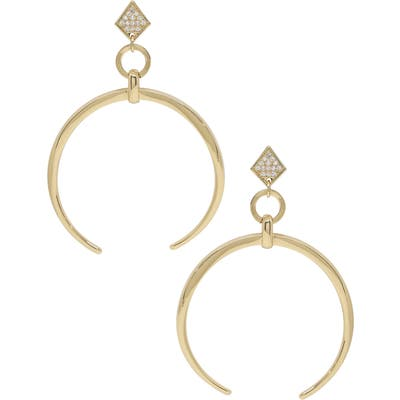 Ettika Crescent Horn Drop Earrings