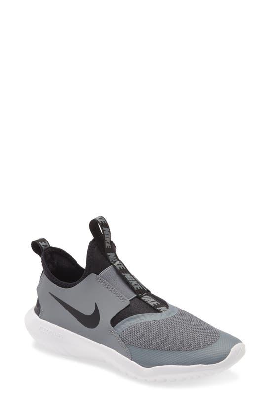 Nike Babies' Little Boys Flex Runner Slip-on Athletic Sneakers From Finish Line In Cool Grey/ Black/ White