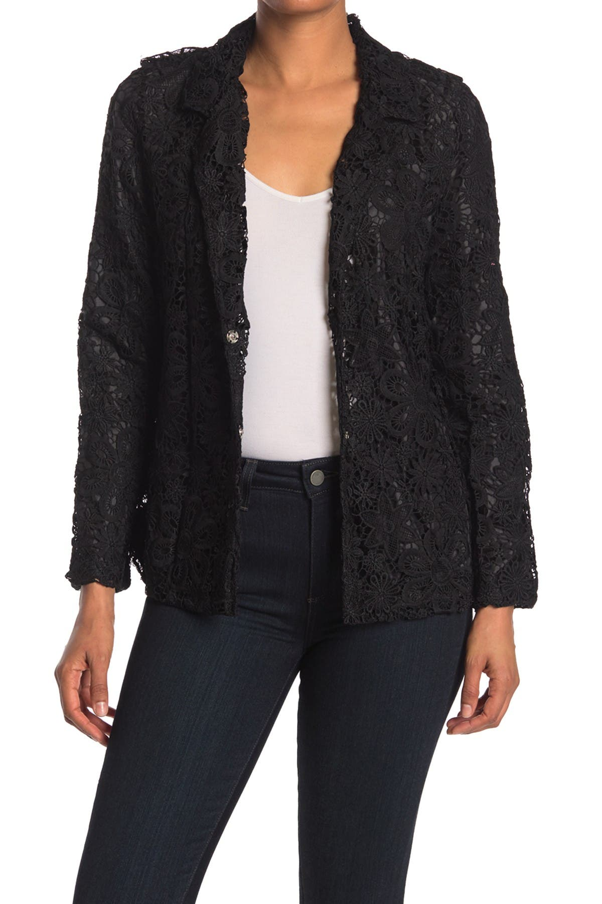 Image of Forgotten Grace Crochet Blazer Jacket