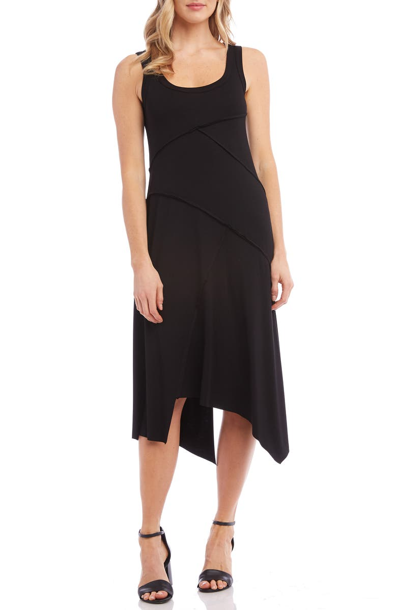 KAREN KANE Handkerchief Hem Dress, Main, color, 001
