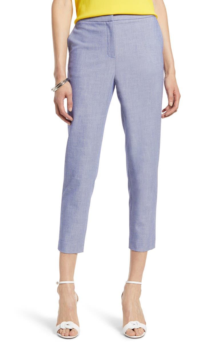 HALOGEN<SUP>®</SUP> Chambray Crop Pants, Main, color, CHAMBRAY