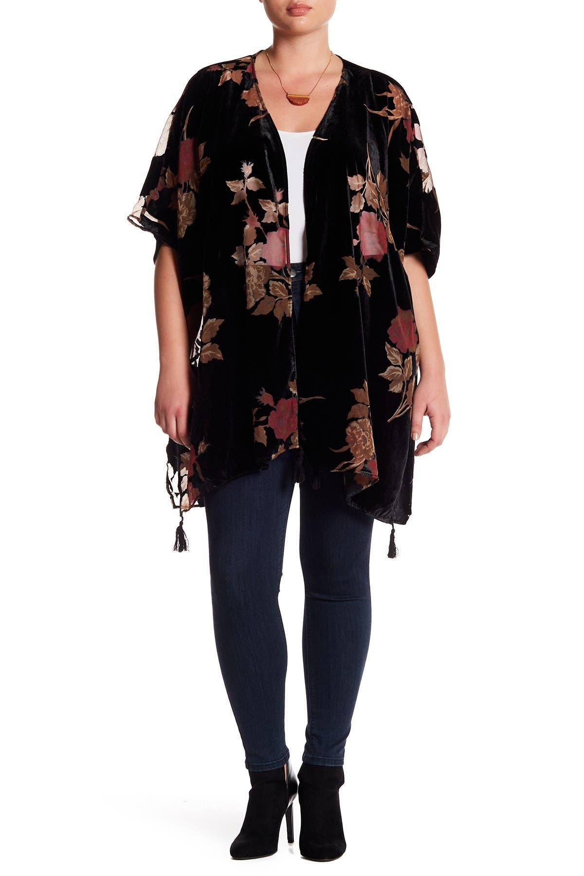 Image of DR2 by Daniel Rainn Velvet Burnout Kimono