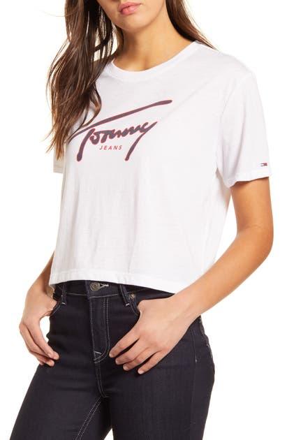Tommy Jeans SIGNATURE CROP T-SHIRT