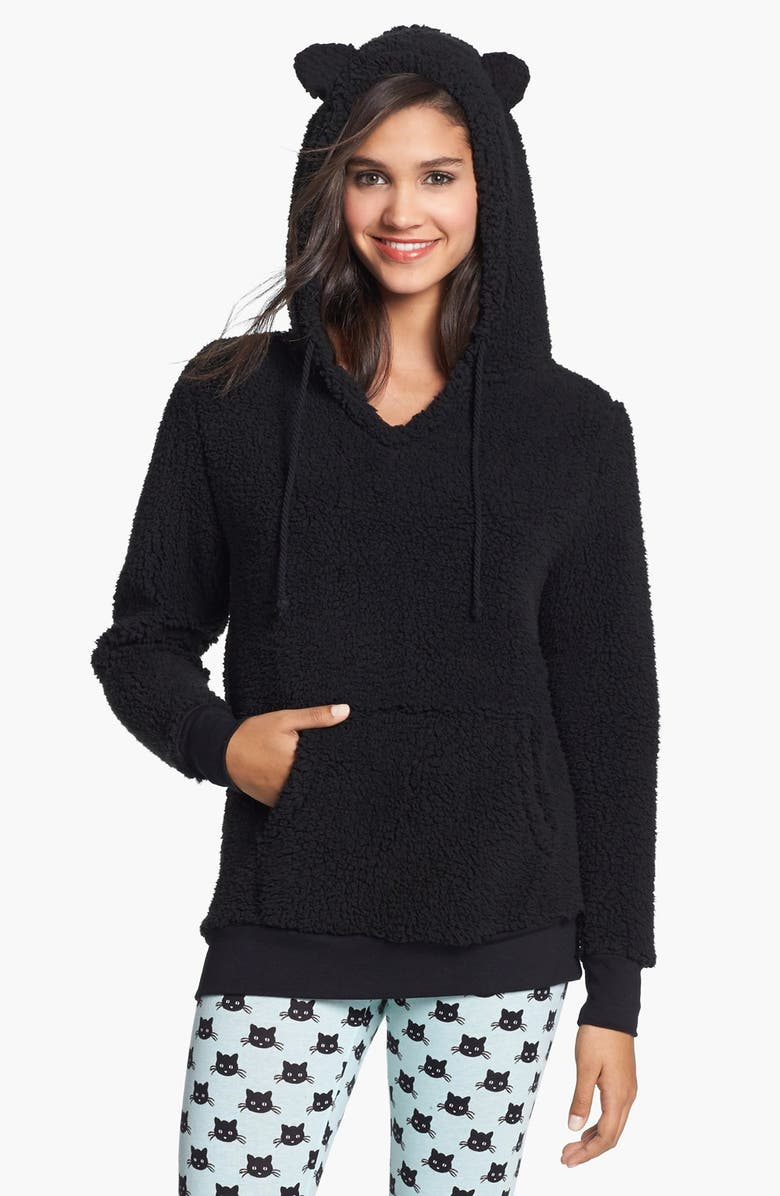COZY ZOE 'Kool Kitty Cozy' Hoodie, Main, color, 001