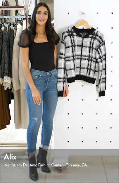 Zip Front Plaid Eyelash Sweater Jacket, sales video thumbnail