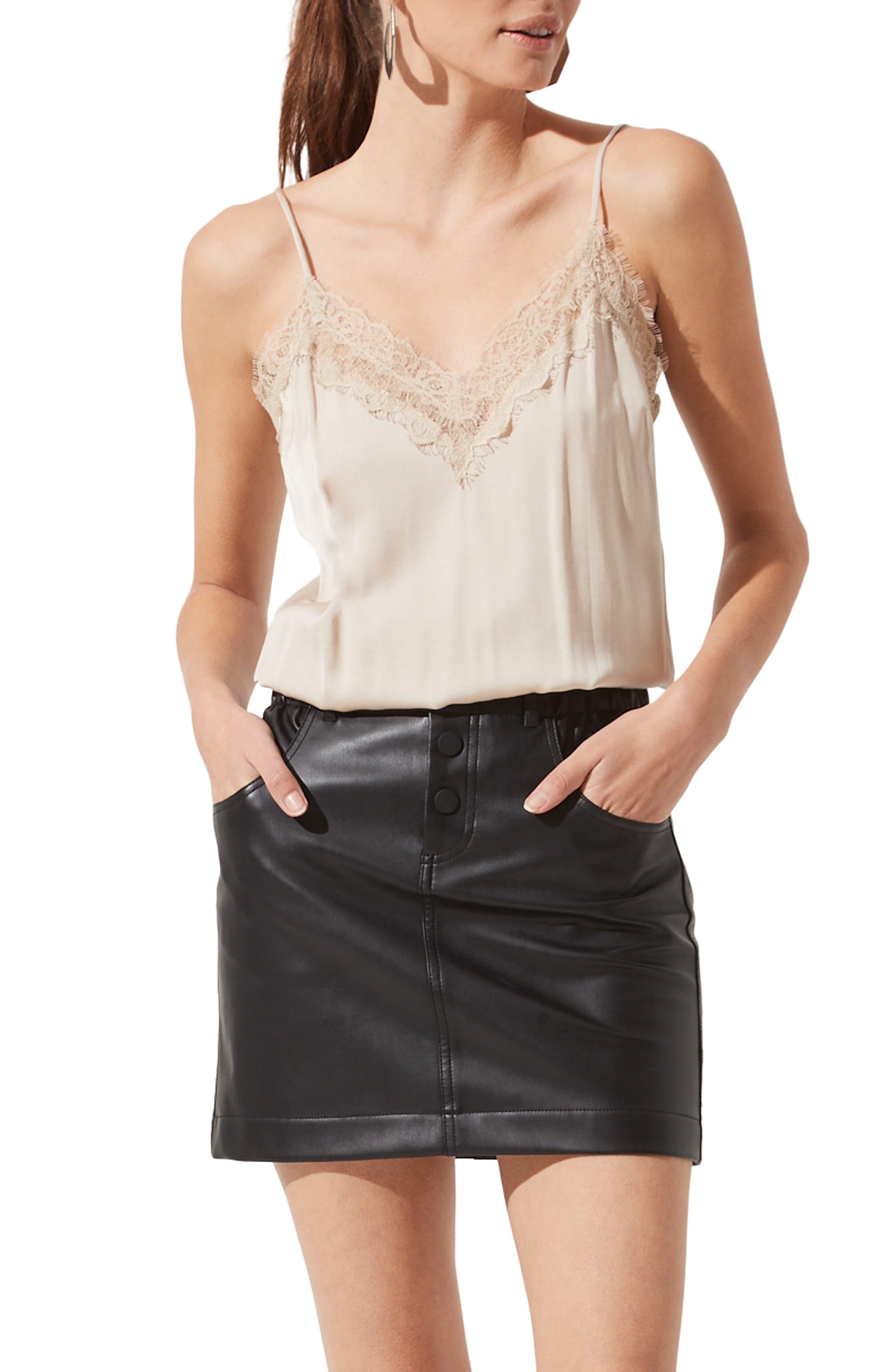 Lace Trim Camisole Bodysuit