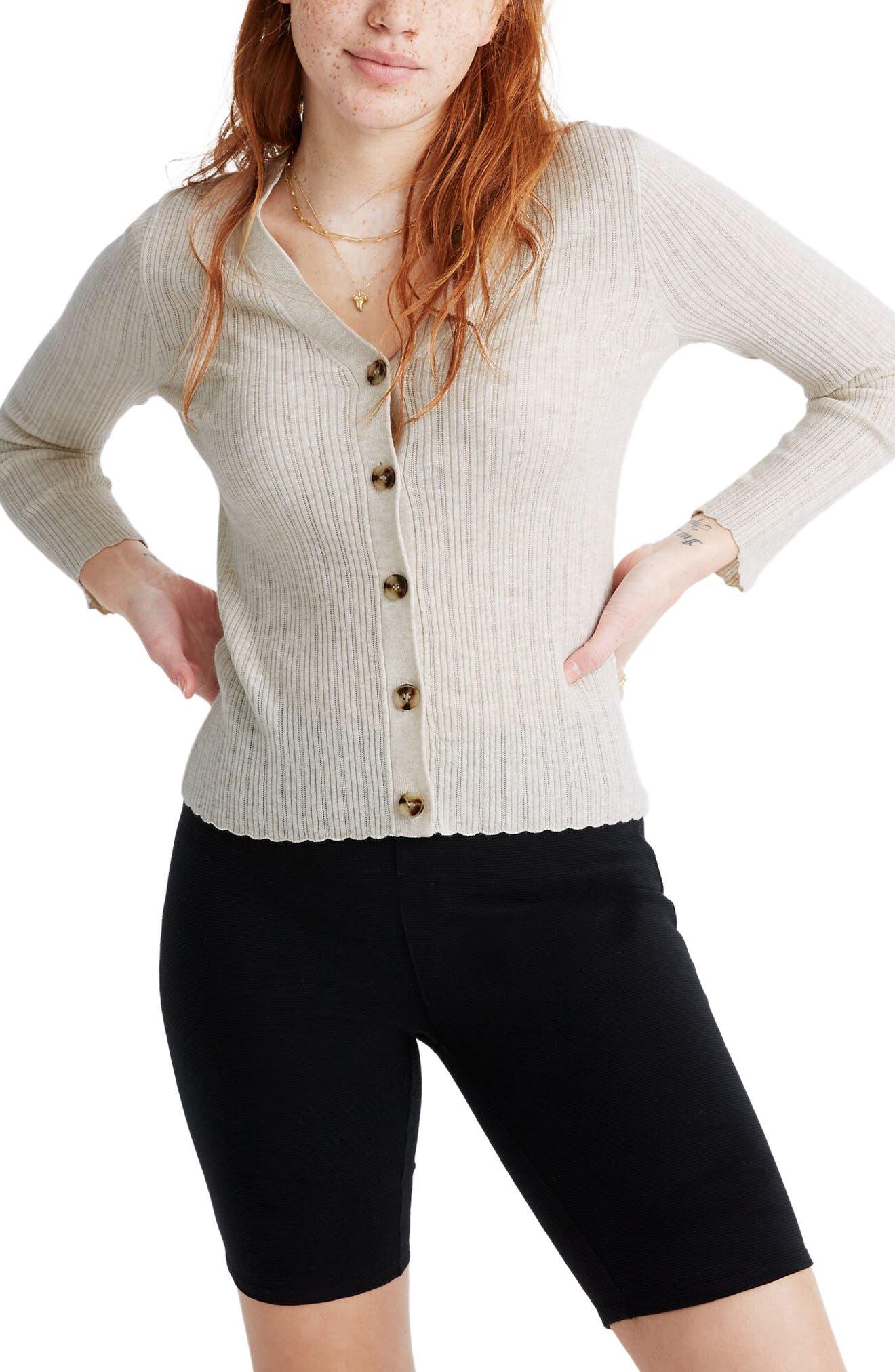 Image of Madewell Altona Pointelle Knit Cardigan