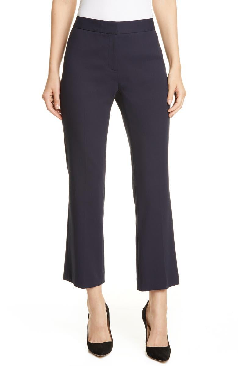 LEWIT Slim Ankle Pants, Main, color, NAVY NIGHT