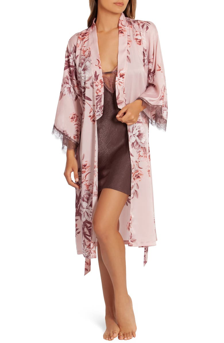 MIDNIGHT BAKERY Floral Duster Robe, Main, color, SLOANE FLORAL-PINK