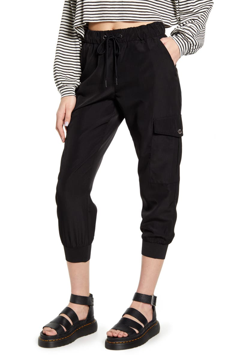 ONLY Medea Junia Tie Waist Jogger Pants, Main, color, 001