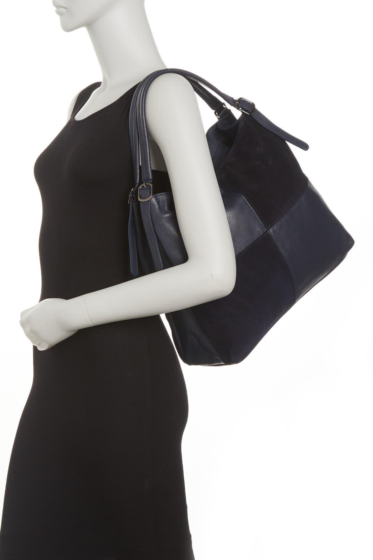 Image of Carla Ferreri Patchwork Leather Shoulder Bag