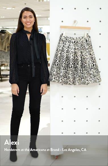 Metallic Leopard Jacquard Full Skirt, sales video thumbnail