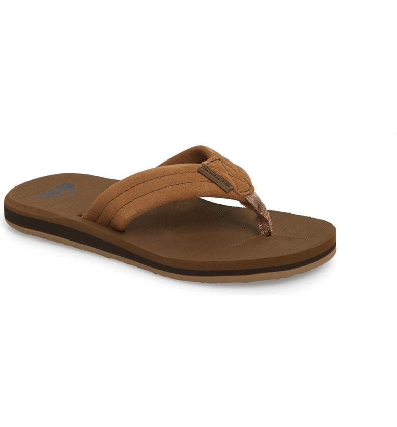 QUIKSILVER Carver Flip Flop, Main, color, TAN