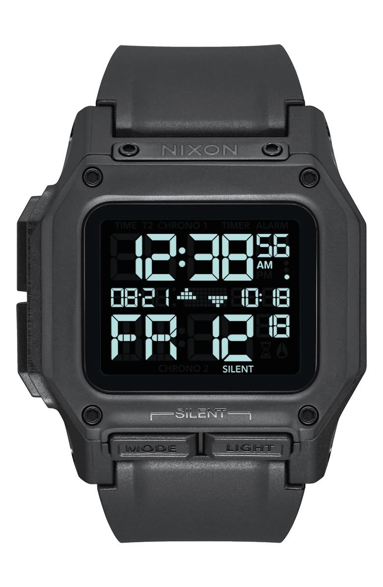 NIXON Regulus Digital Watch, 46mm, Main, color, BLACK
