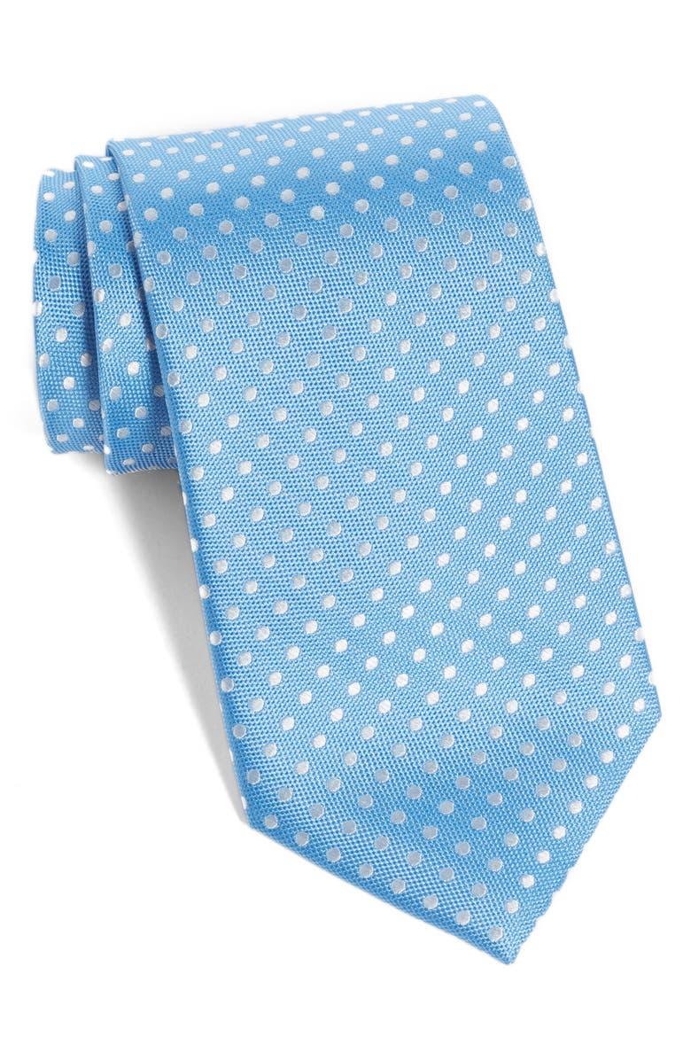 NORDSTROM MEN'S SHOP Norton Dot Silk Tie, Main, color, SKY