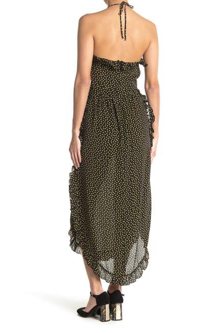 Image of See By Chloe Halter Polka Dot Maxi Dress