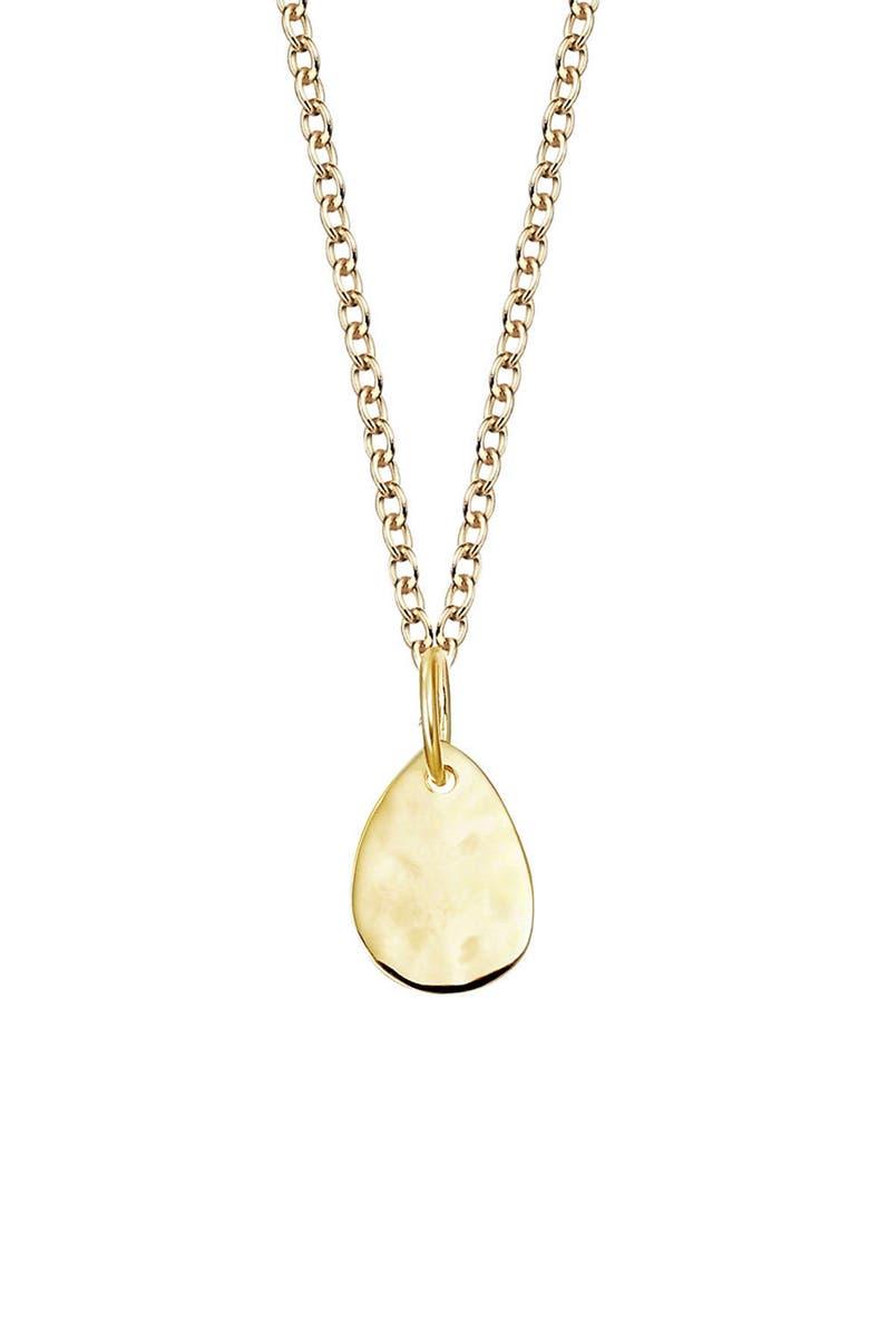 MONICA VINADER Engravable Ziggy Petal Pendant Necklace, Main, color, YELLOW GOLD