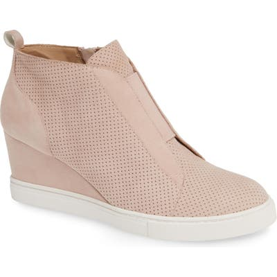 Linea Paolo Felicia Wedge Bootie- Pink