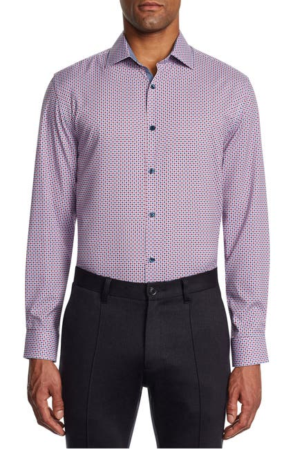 Image of WRK Trim Fit Gingham Dress Shirt