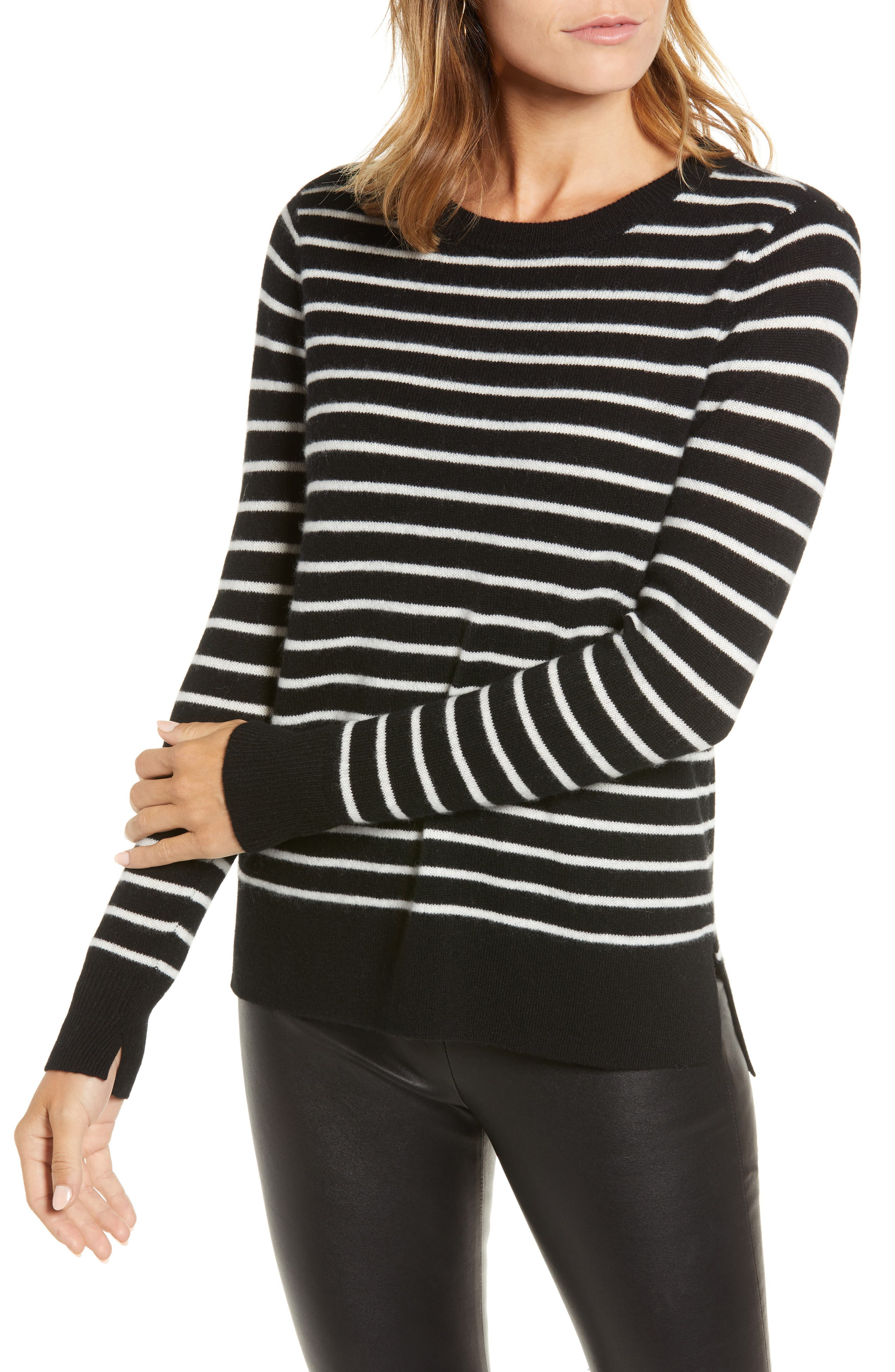 Crewneck Cashmere Sweater, Main, color, 002