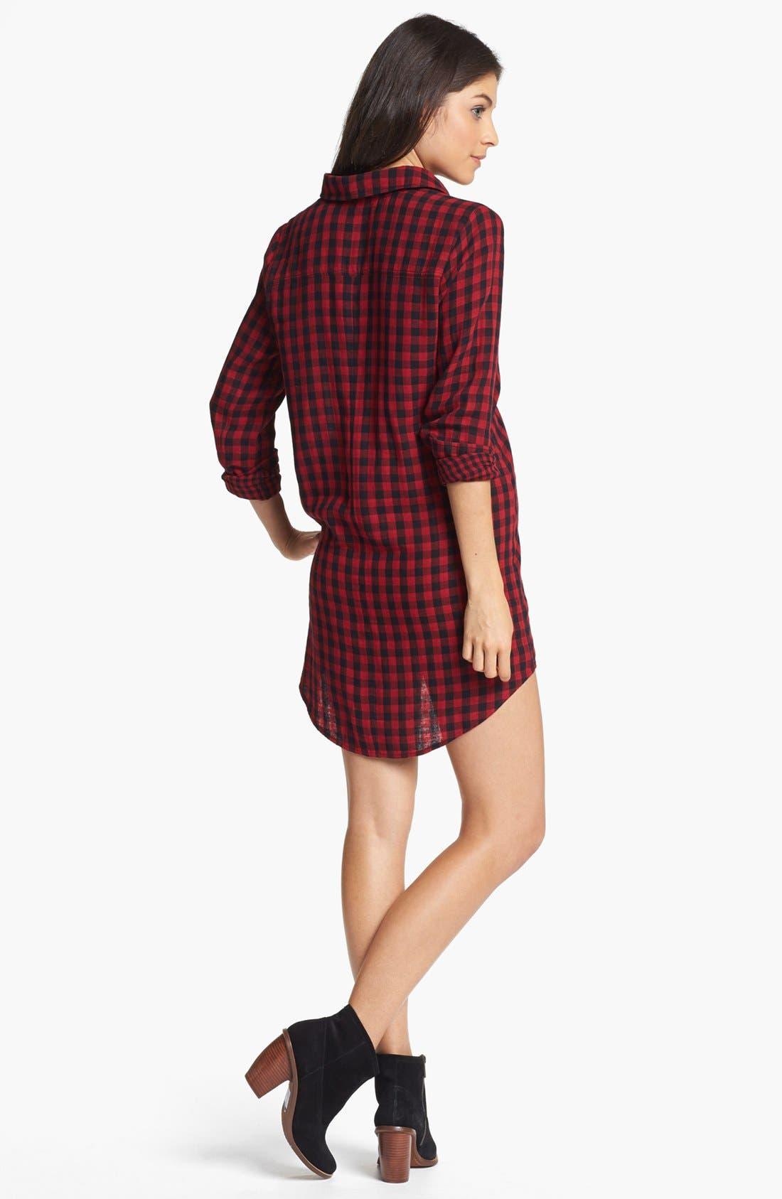 ,                             Plaid Shirtdress,                             Alternate thumbnail 6, color,                             600