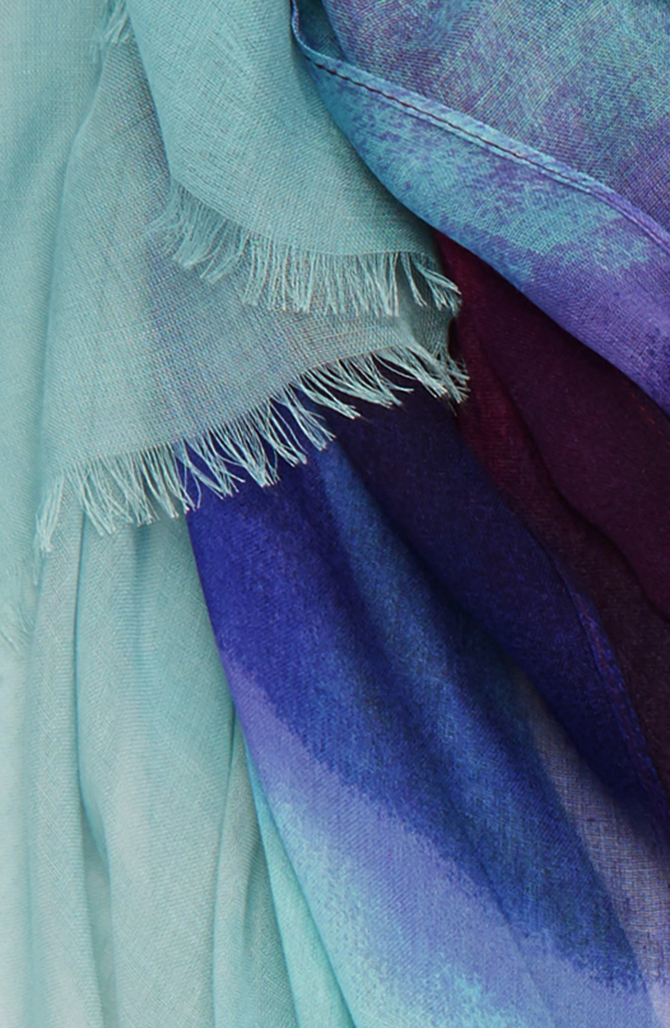 ,                             Print Modal & Silk Scarf,                             Alternate thumbnail 4, color,                             BLUE HEAVEN OMBRE PRINT