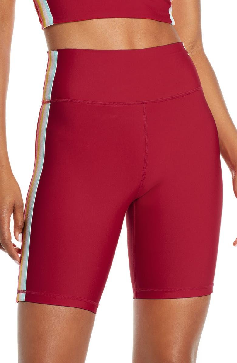 SPIRITUAL GANGSTER Biker Shorts, Main, color, DAHLIA RED