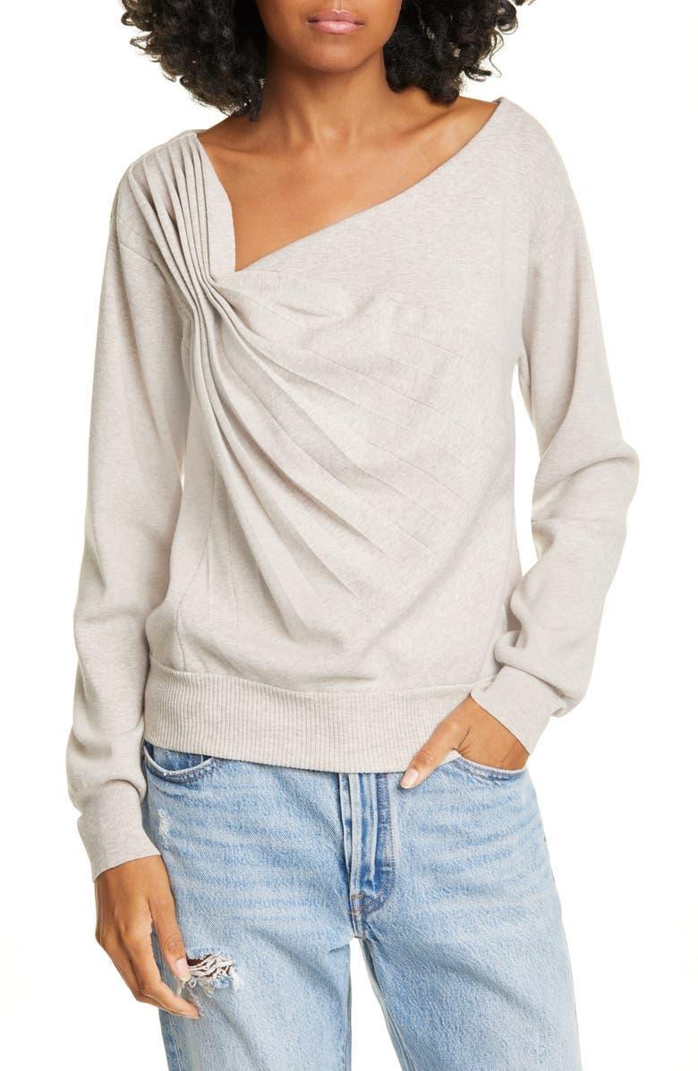 BROCHU WALKER Atlas Sweater, Main, color, FARRO MELANGE